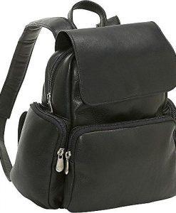 Le Donne Leather Junior Womens Multi Pocket Back Pack