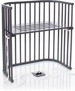 Babybay Bedside Crib Boxspring, Grey