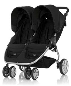 Britax B-Agile Double Barnvagn Cosmos Black One Size
