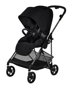 Cybex Melio Carbon Barnvagn Deep Black One Size