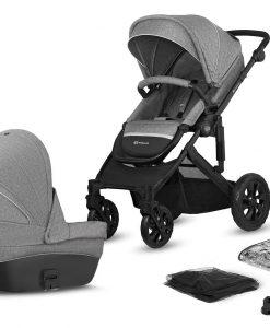 Kinderkraft Prime Lite Duovagn, Grey