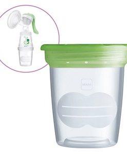 MAM 5-Pack Förvaringslösning för Bröstmjölk Grön One Size