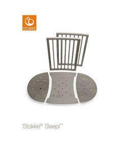Stokke Sleepi förlängningsset spjälsäng, hazy grey