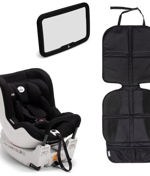 AVA Twistfix med Bilspegel och Sparkskydd Lux, Black