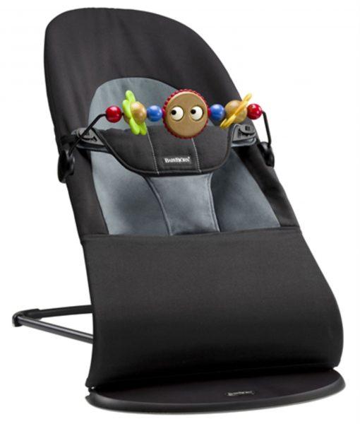 BabyBjörn Balance Soft Babysitter inkl. Träleksak, Svart