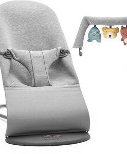BabyBjörn Bliss Babysitter 3D Jersey inkl. Leksak, Ljusgrå