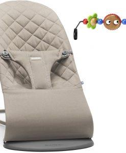 BabyBjörn Bliss Babysitter Cotton inkl. Leksak, Sandgrå