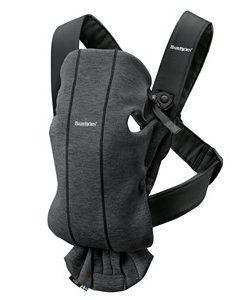 Babybjörn Mini Bärsele Charcoal Grey/3D Jersey One Size