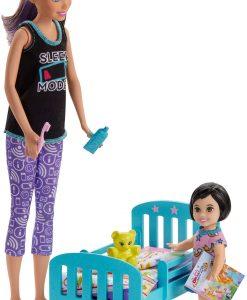 Barbie Skipper Babysitters Bedtime Lekset Med Docka