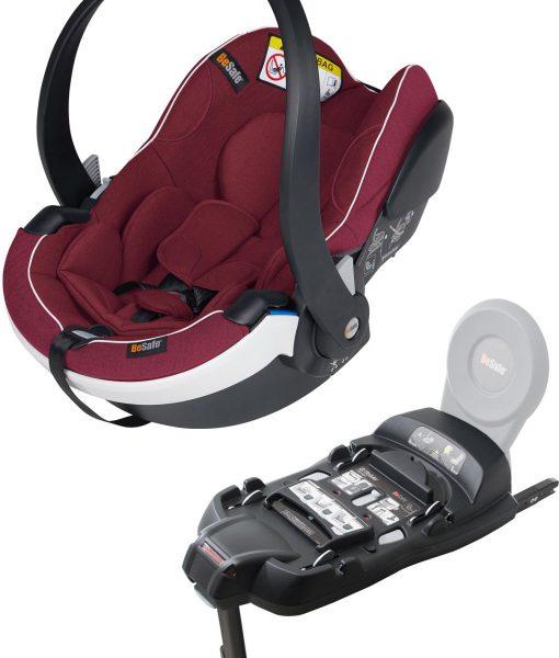 BeSafe iZi Go Modular X1 i-Size Babyskydd inkl. Bas, Burgundy Mélange