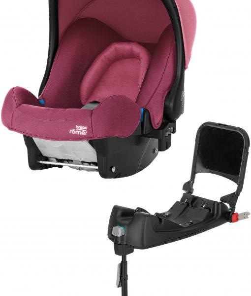 Britax Römer baby-Safe Babyskydd inkl. Bas, Wine Rose