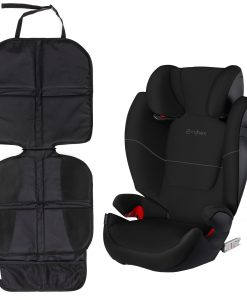 Cybex Solution M-Fix Bältesstol och Sparkskydd Lux, Pure Black