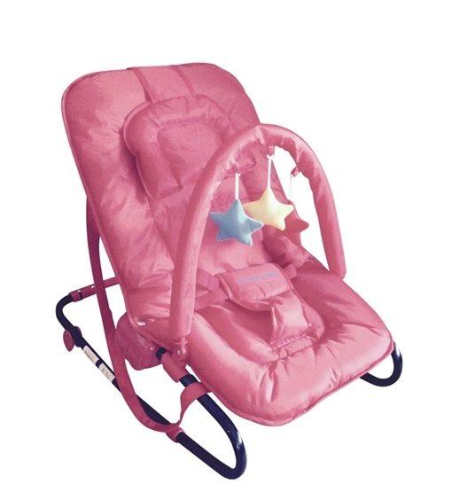 Kaxholmen – Babysitter Med Lekbåge Och Huvudkudde – Rosa