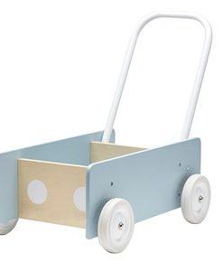 Kids Concept Lära-gå Vagn Blågrå One Size