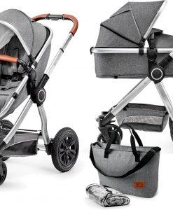 Kinderkraft Multipurpose 2-i-1 Veo Duovagn, Grey