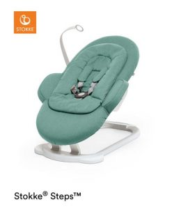 Stokke Steps Bouncer babysitter, cool jade