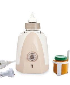 Thermobaby Flaskvärmare för Hemmet och Bilen Rosa/Vit One Size