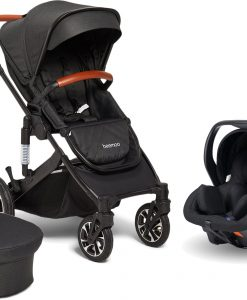 Beemoo Maxi 4 Duovagn Inkl. Axkid Modukid Infant Babyskydd, Black/Black