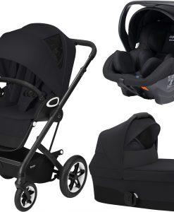 Cybex Talos S Lux Duovagn inkl. Modukid Babyskydd, Deep Black/Black