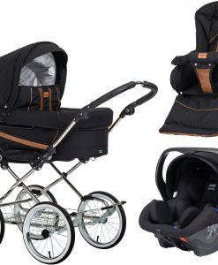 Emmaljunga Edge Duo De Luxe Duovagn 2021 inkl. Modukid Babyskydd, Outdoor Black