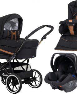 Emmaljunga Edge Duo S Duovagn 2021 inkl. Modukid Babyskydd, Outdoor Black