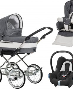 Emmaljunga Mondial Duo de Luxe Duovagn 2021 inkl. Cabriofix Babyskydd, Lounge Grey