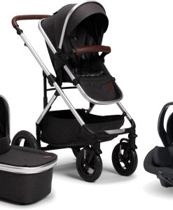 Petite Chérie Excellence 2 Duovagn Inkl. Axkid Modukid Babyskydd, Black Melange