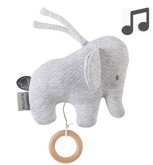Tembo Speldosa Mini Elefant Grå