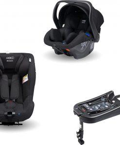 Axkid Modukid Seat Bilbarnstol, Black + Infant Babyskydd Inkl. Bas