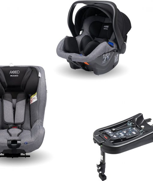 Axkid Modukid Seat Bilbarnstol, Grey + Infant Babyskydd Inkl. Bas