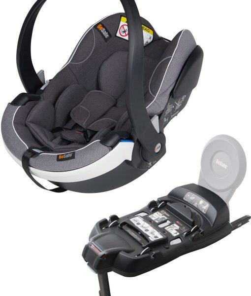 BeSafe iZi Go Modular X1 i-Size Babyskydd inkl. Bas, Metallic Mélange