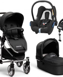 Beemoo Flexi Travel 3 inkl. Travelsystem Maxi Cosi, Black Melange