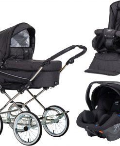 Emmaljunga Edge Duo De Luxe Duovagn 2021 inkl. Modukid Babyskydd, Lounge Black