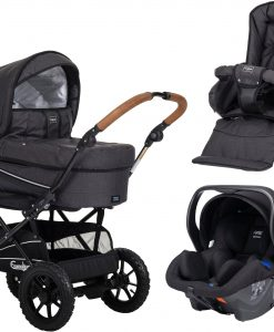 Emmaljunga Edge Duo S Duovagn AIR 2021 inkl. Modukid Babyskydd, Lounge Black