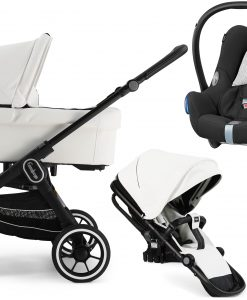 Emmaljunga NXT60 ERGO Duovagn 2021 inkl. Maxi-Cosi CabrioFix, Leatherette White