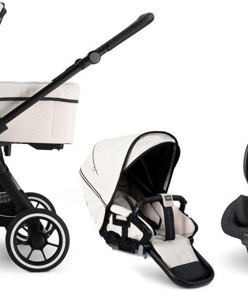 Emmaljunga NXT60 FLAT Duovagn 2021 inkl. Axkid Modukid Babyskydd, Lounge Beige